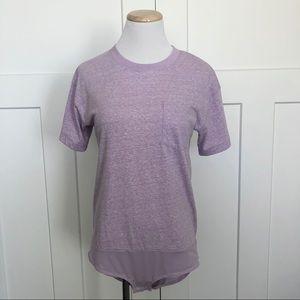 J Crew Pocket T-shirt Short Sleeve Bodysuit Top
